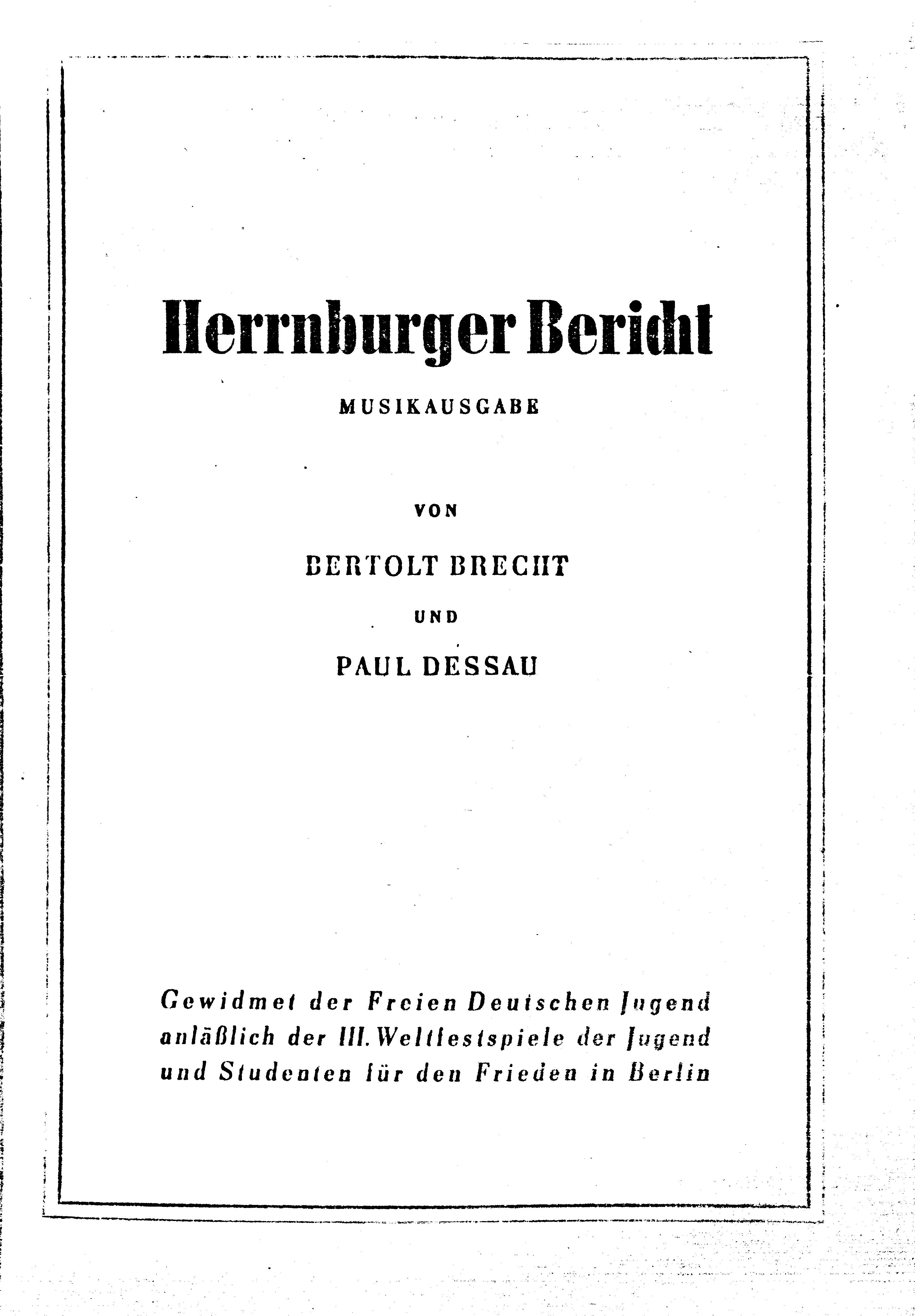 """Herrnburger Bericht"""" wiedergelesen – Theatermarginalien"""